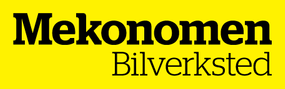 Gul og sort logo for Mekonomen Bilverksted